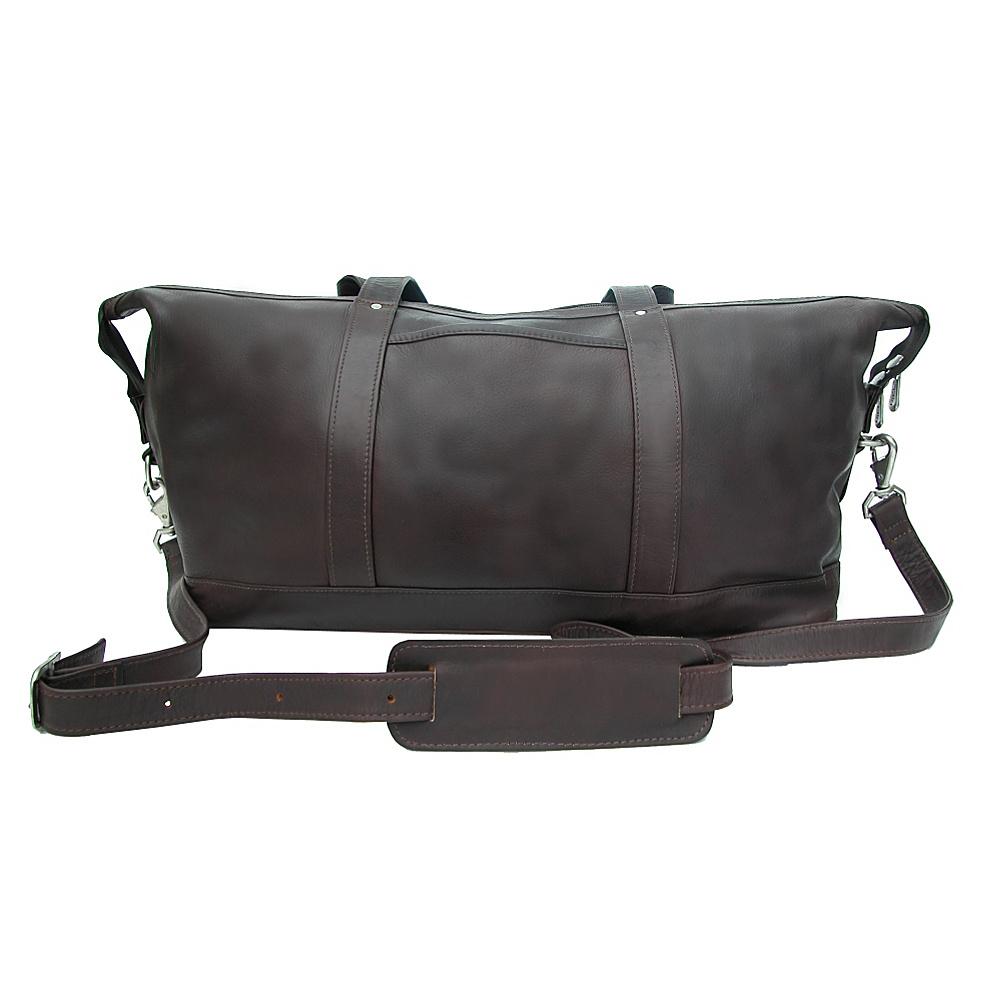 Piel Medium Carry-On Satchel - Chocolate - Luggage, Rolling Duffels