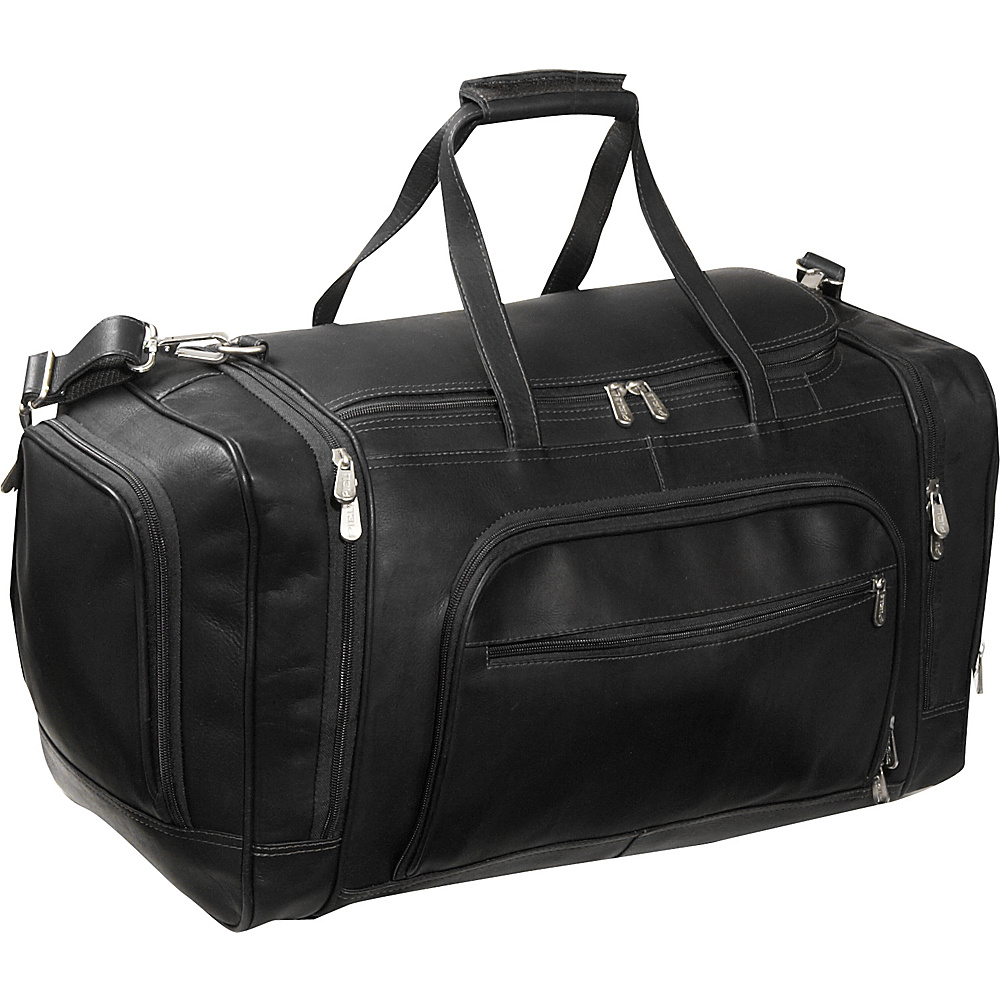 Piel Multi-Compartment Duffle Bag - Black