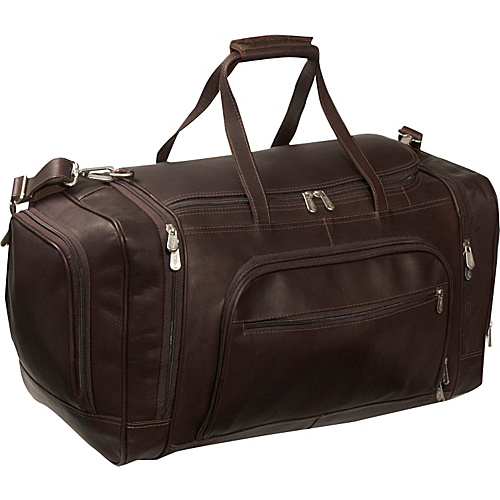 Piel Multi-Compartment Duffle Bag - Chocolate