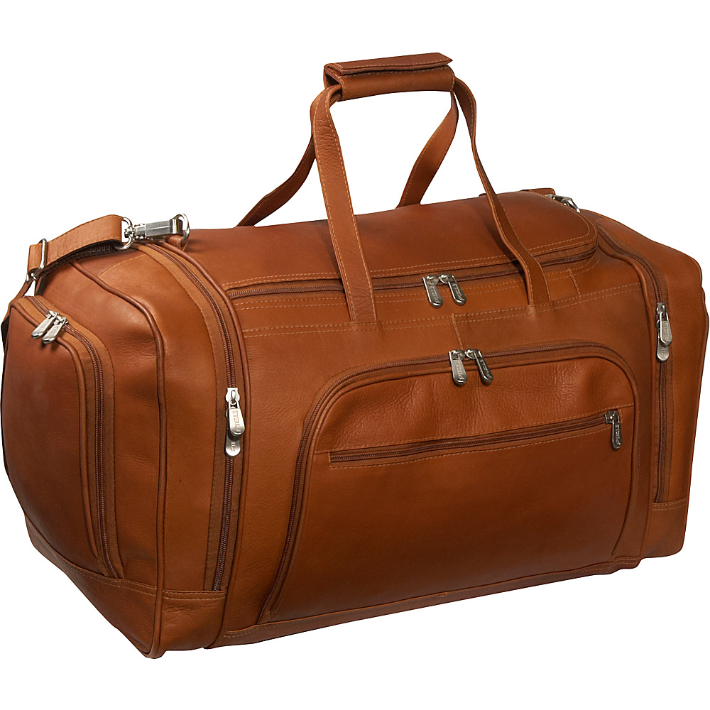 Piel Multi-Compartment Duffle Bag - Saddle - Luggage, Rolling Duffels