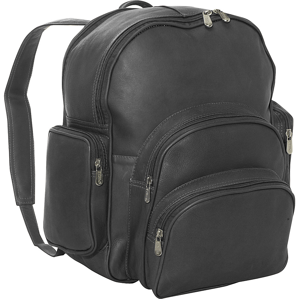 Piel Expandable Backpack - Black - Handbags, Leather Handbags