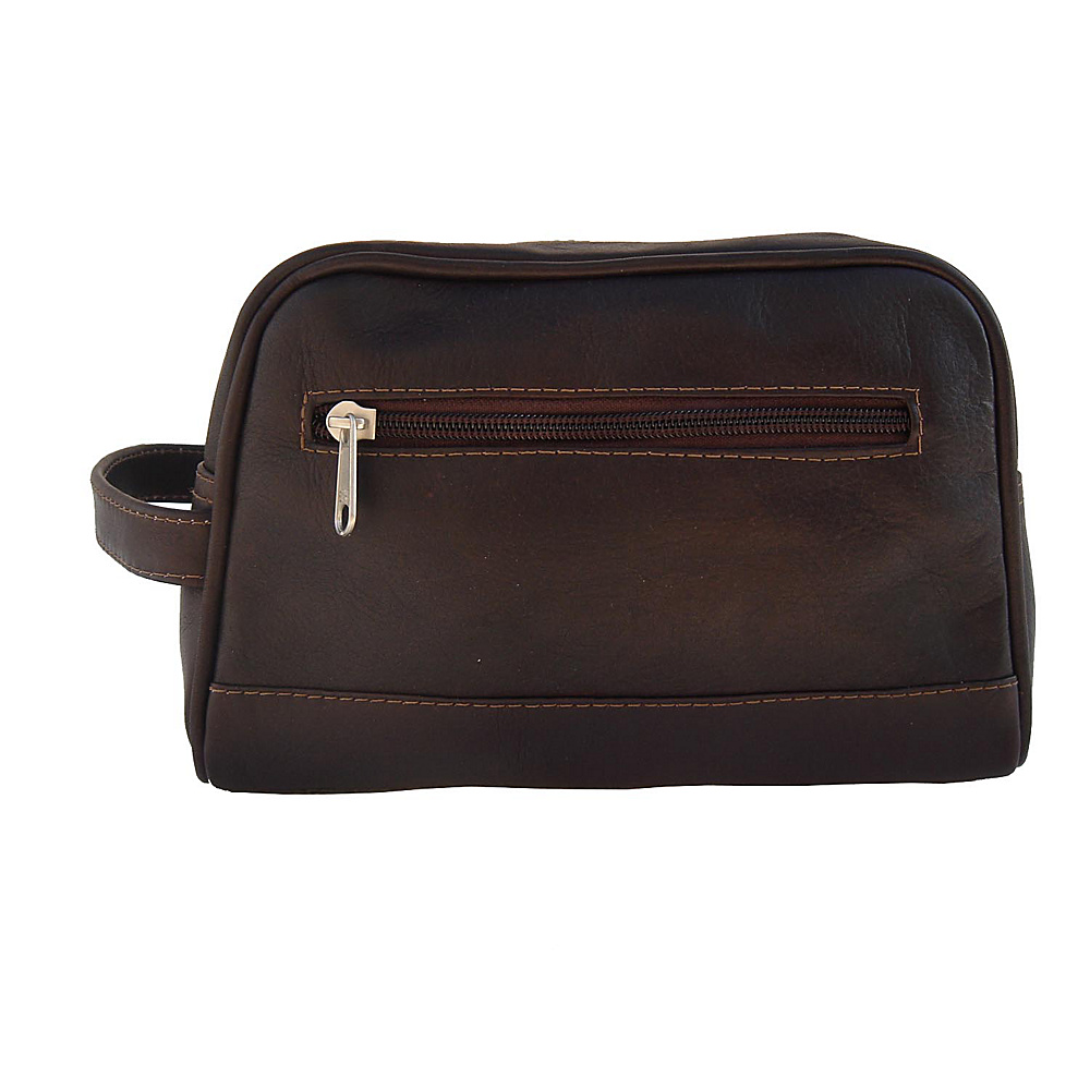 Piel Top-Zip Toiletry Kit - Chocolate - Travel Accessories, Toiletry Kits