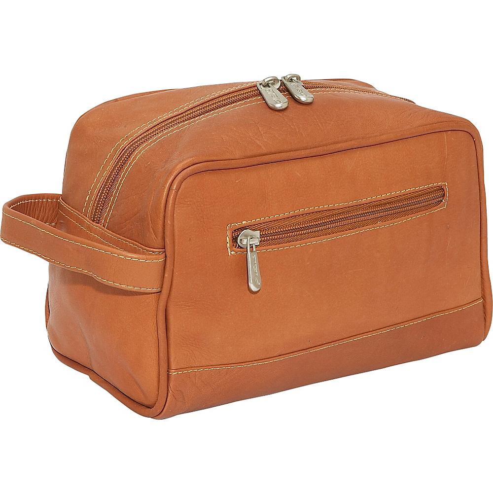 Piel Top-Zip Toiletry Kit - Saddle - Travel Accessories, Toiletry Kits