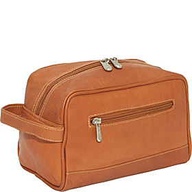 Top-Zip Toiletry Kit Saddle