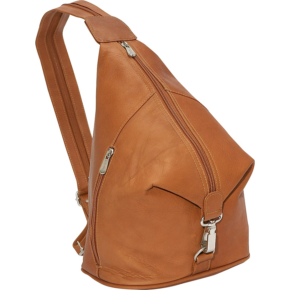 Piel Three-Zip Hobo Sling - Saddle