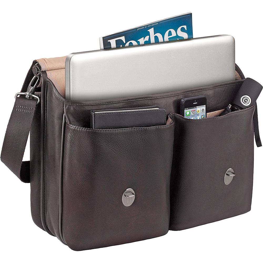 """SOLO Premium Leather 16"""" Laptop Briefcase Espresso - SOLO Non-Wheeled Business Cases"""