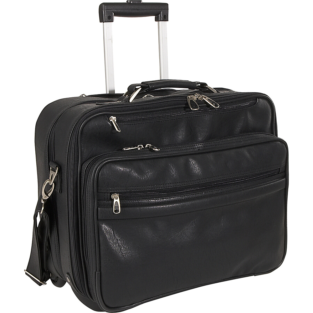 Travelers Choice Churchill Rolling Computer Briefcase - Work Bags & Briefcases, Wheeled Business Cases