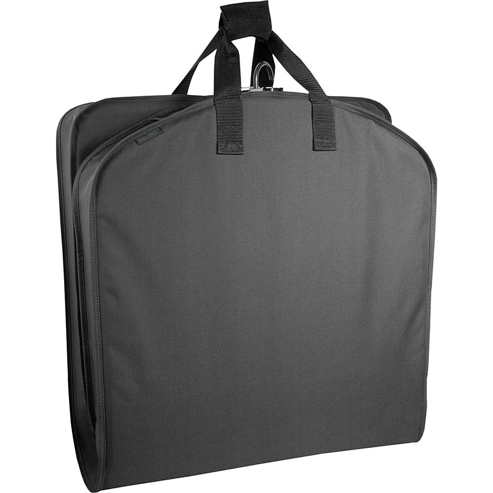 Wally Bags 42 Suit Bag w Exterior Pocket Black