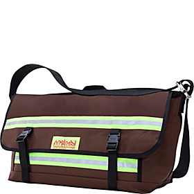 Reflective Bike Messenger Bag- Large Dk Brown