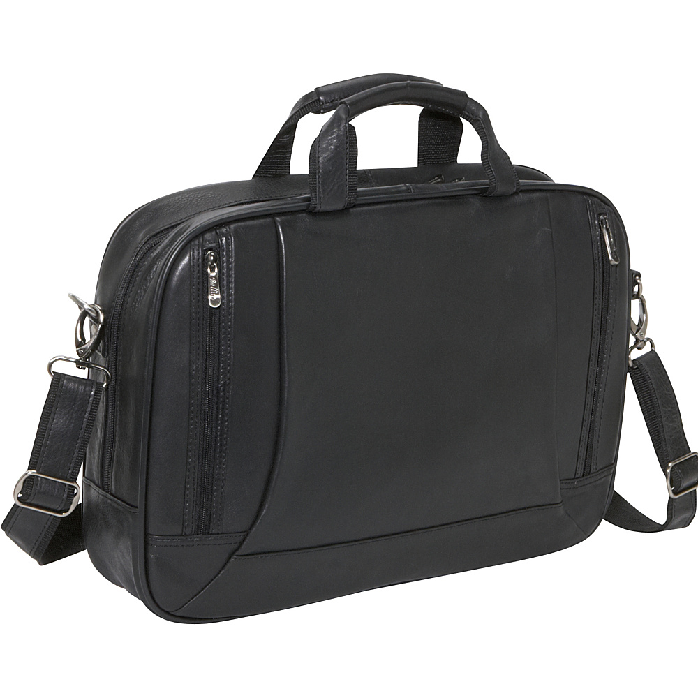 Bellino The Editor Leather Case - Black - Work Bags & Briefcases, Non-Wheeled Business Cases