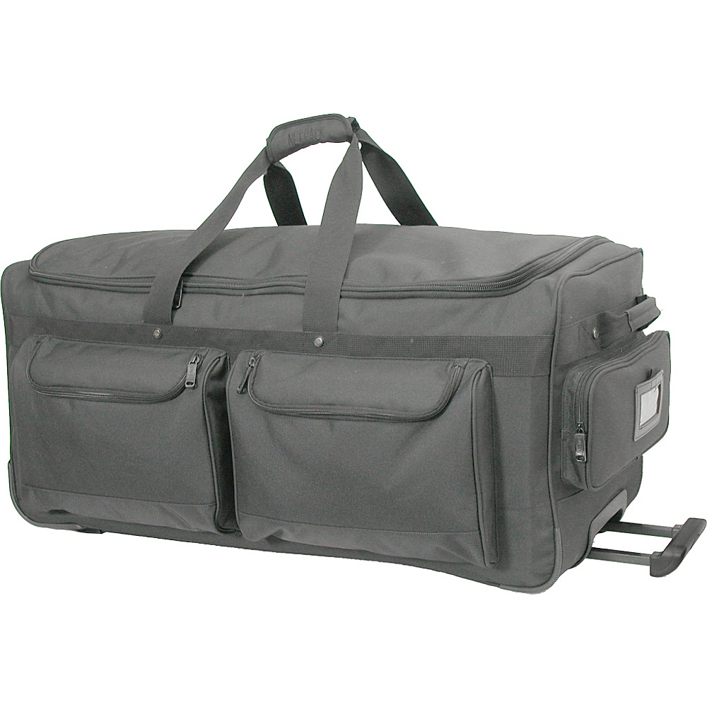 Netpack Deluxe Wheeled Duffel 30 Black - Netpack Rolling Duffels - Luggage, Rolling Duffels