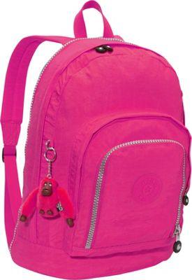 Kipling Hal Expandable Backpack Very Berry - Kipling School & Day Hiking Backpacks