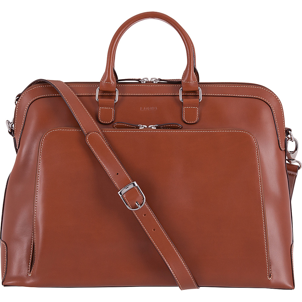 Lodis Audrey RFID Brera Briefcase Sequoia/Papaya - Lodis Non-Wheeled Business Cases - Work Bags & Briefcases, Non-Wheeled Business Cases