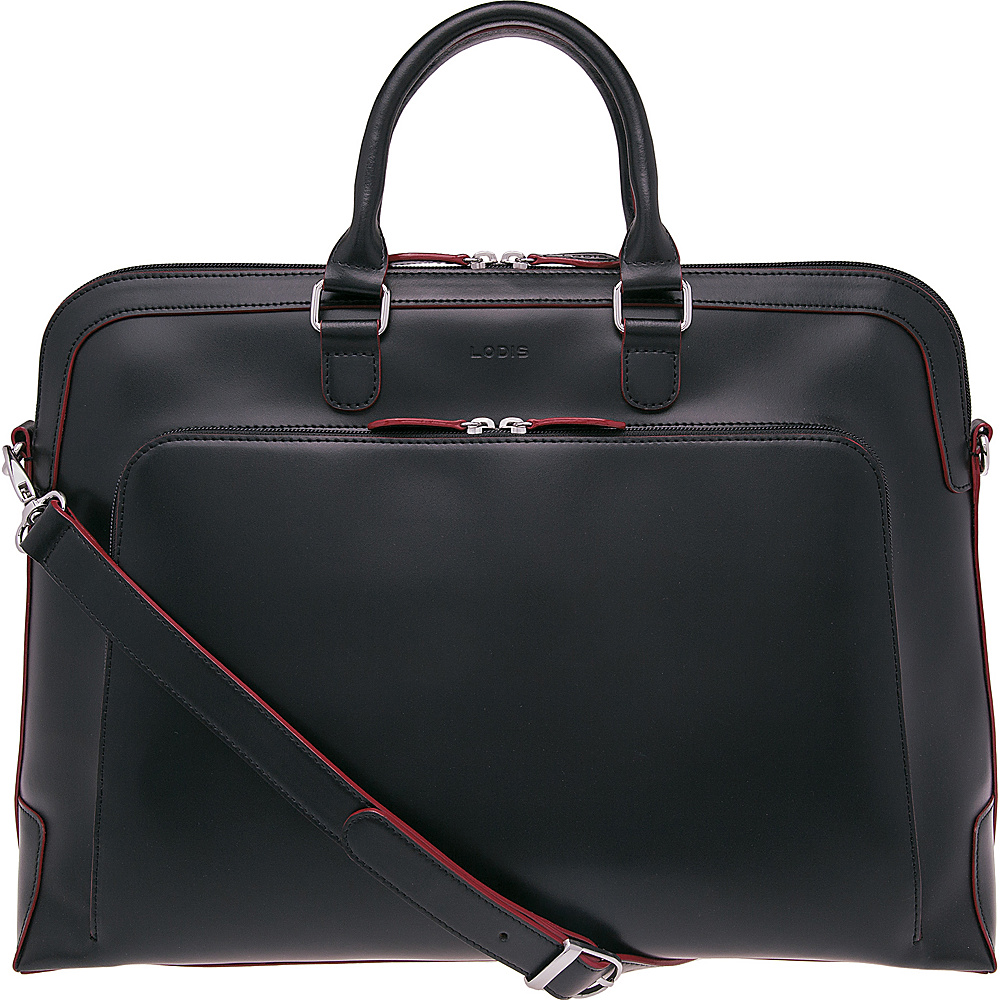 Lodis Audrey RFID Brera Briefcase Black - Lodis Non-Wheeled Business Cases - Work Bags & Briefcases, Non-Wheeled Business Cases