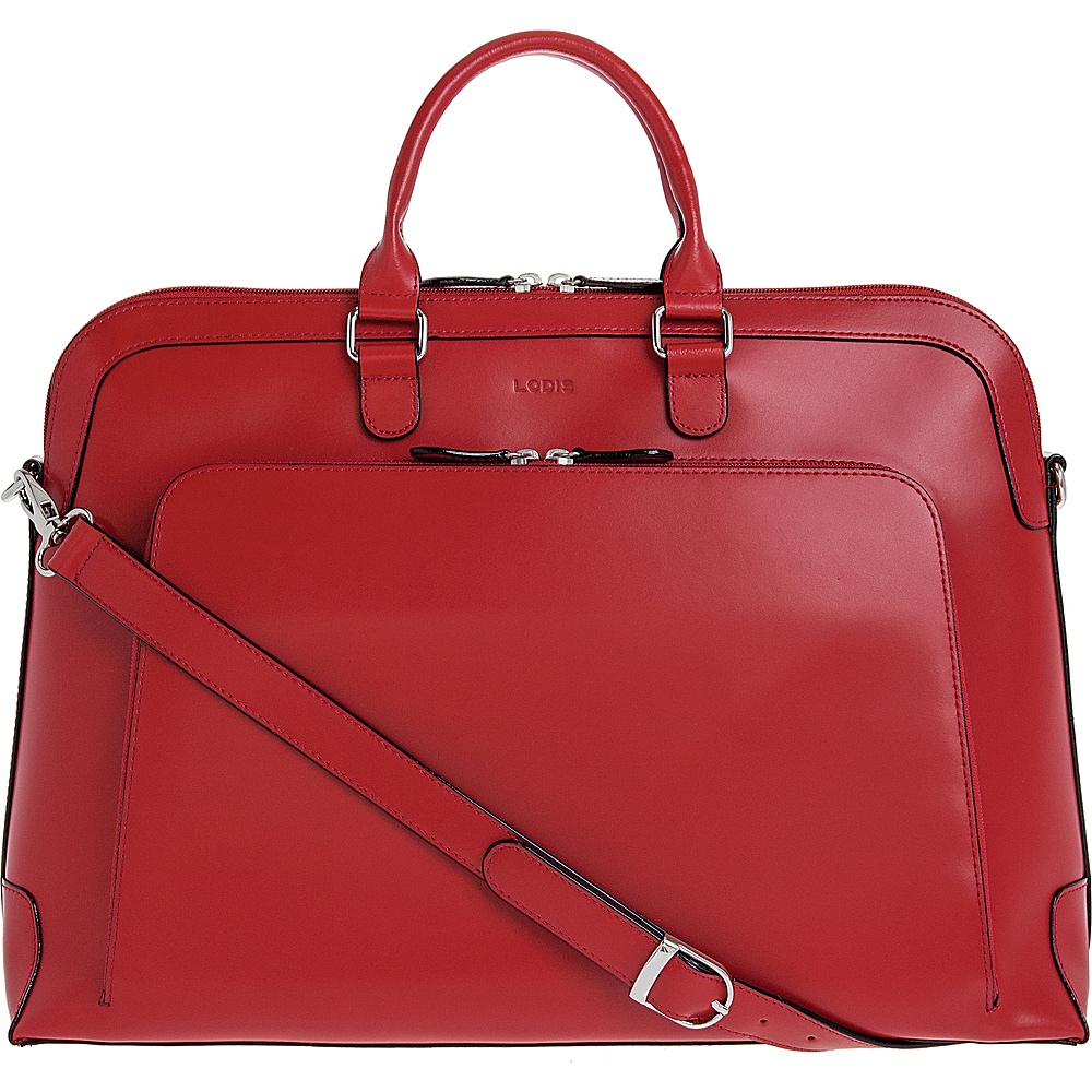 Lodis Audrey RFID Brera Briefcase Red - Lodis Non-Wheeled Business Cases - Work Bags & Briefcases, Non-Wheeled Business Cases