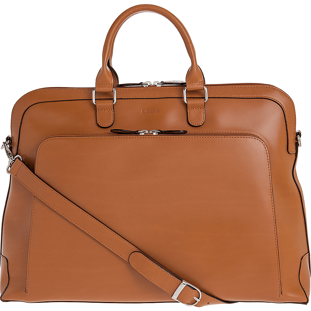 Lodis Audrey RFID Brera Briefcase Toffee - Lodis Non-Wheeled Business Cases - Work Bags & Briefcases, Non-Wheeled Business Cases
