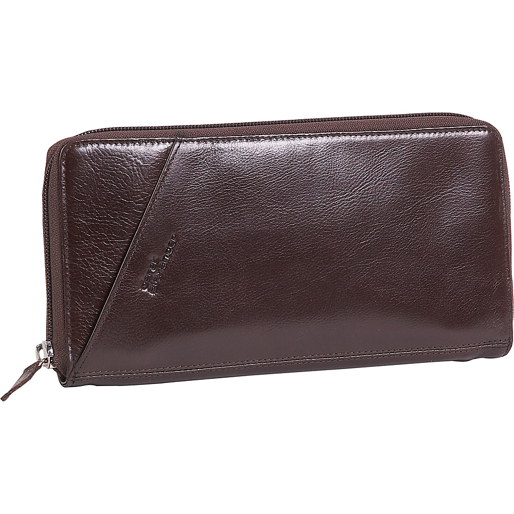 Derek Alexander Leather Passport Travel Wallet - Brown - Work Bags & Briefcases, Men's Wallets