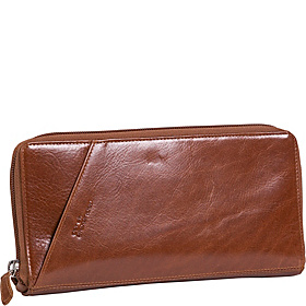 Leather Passport Travel Wallet Tan
