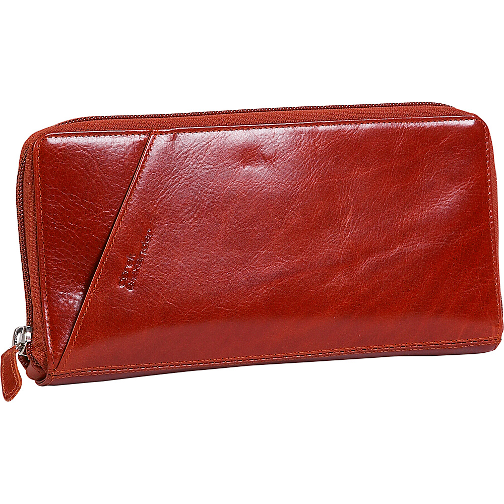 Derek Alexander Leather Passport Travel Wallet - Red - Work Bags & Briefcases, Men's Wallets