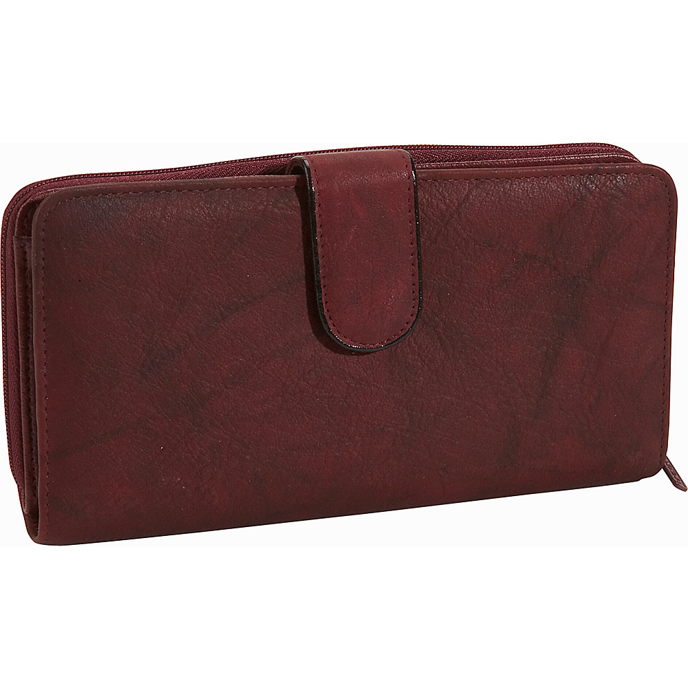 Buxton Heiress Ensemble Clutch - Burgundy - Women's SLG, Women's Wallets