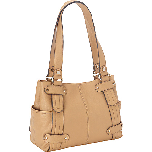 Tignanello Perfect 10 Studded Shopper - Honey