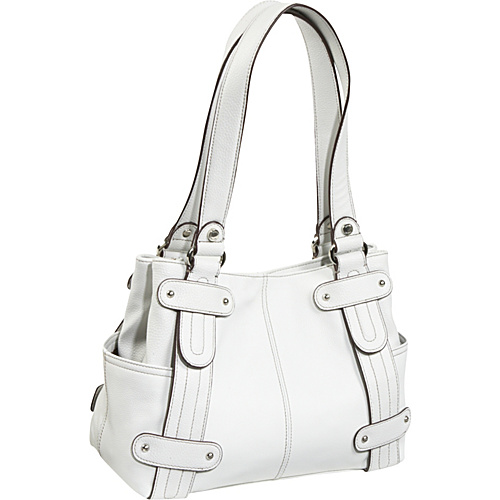 Tignanello Perfect 10 Studded Shopper - White