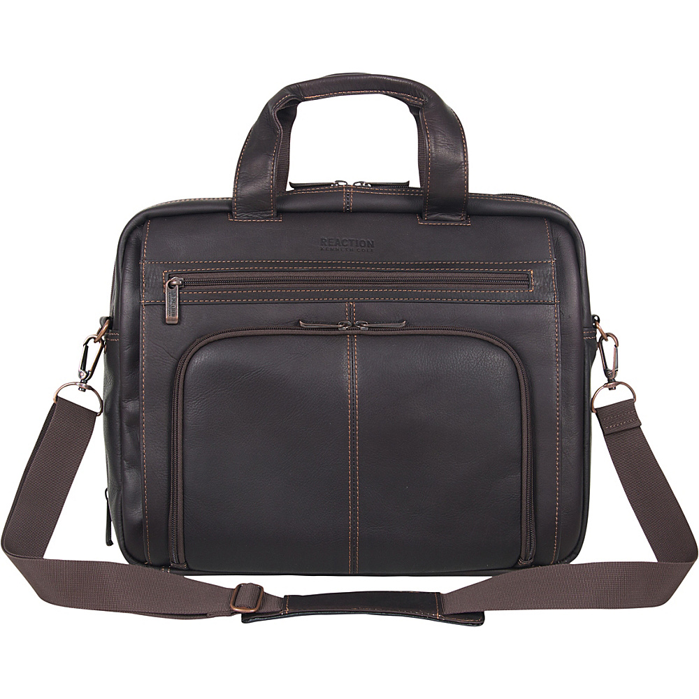 Kenneth Cole Reaction Columbian Leather Expandable - Work Bags & Briefcases, Non-Wheeled Business Cases
