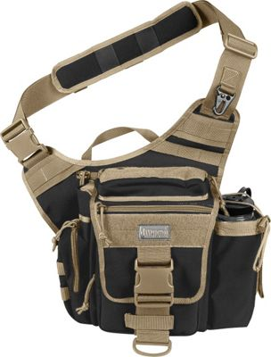 Maxpedition JUMBO S-TYPE VERSIPACK Black/Khaki - Maxpedition Slings