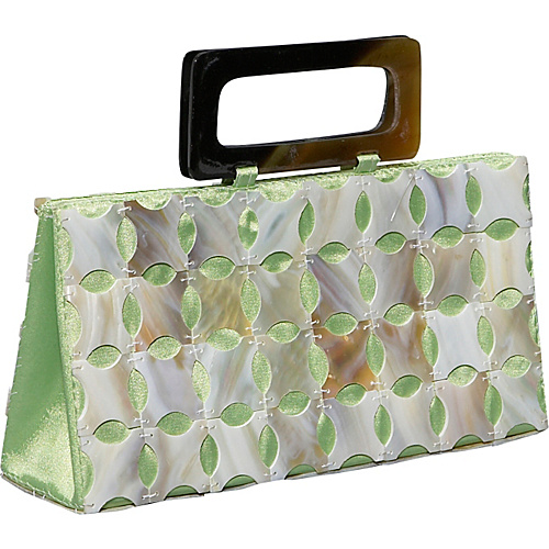Global Elements Cut Mother of Pearl Handheld - Shoulder Bag