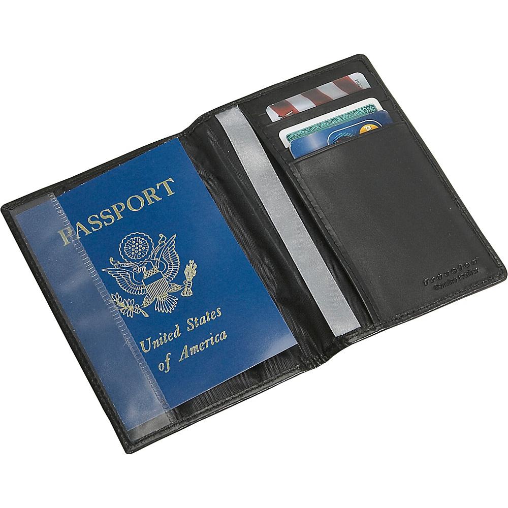 Travelon RFID Blocking Leather Passport Case - Black