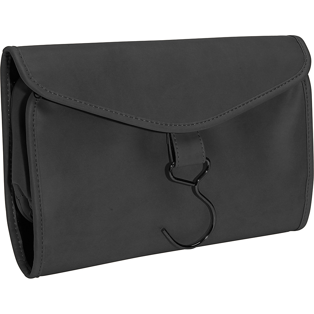 Royce Leather Hanging Toiletry Bag - Black - Travel Accessories, Toiletry Kits