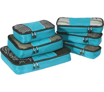 eBags Value Set: Packing Cubes + Slim Packing Cubes Aquamarine - eBags Travel Organizers