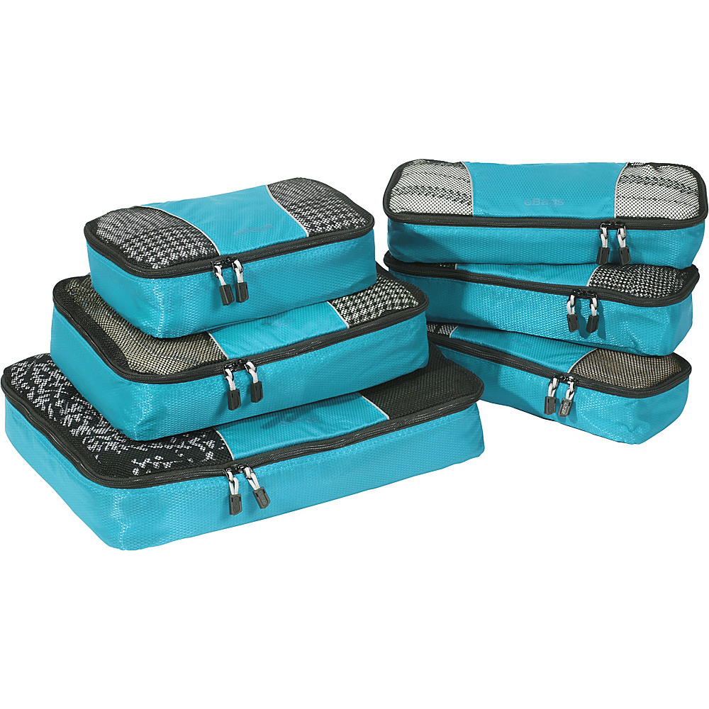 eBags Value Set: Packing Cubes + Slim Packing Cubes Aquamarine - eBags Travel Organizers - Travel Accessories, Travel Organizers
