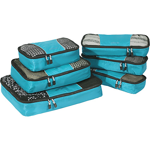 eBags Value Set: Packing Cubes + Slim Packing Cubes Aquamarine - eBags Packing Aids