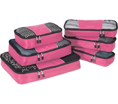 eBags Value Set: Packing Cubes + Slim Packing Cubes Peony - eBags Travel Organizers