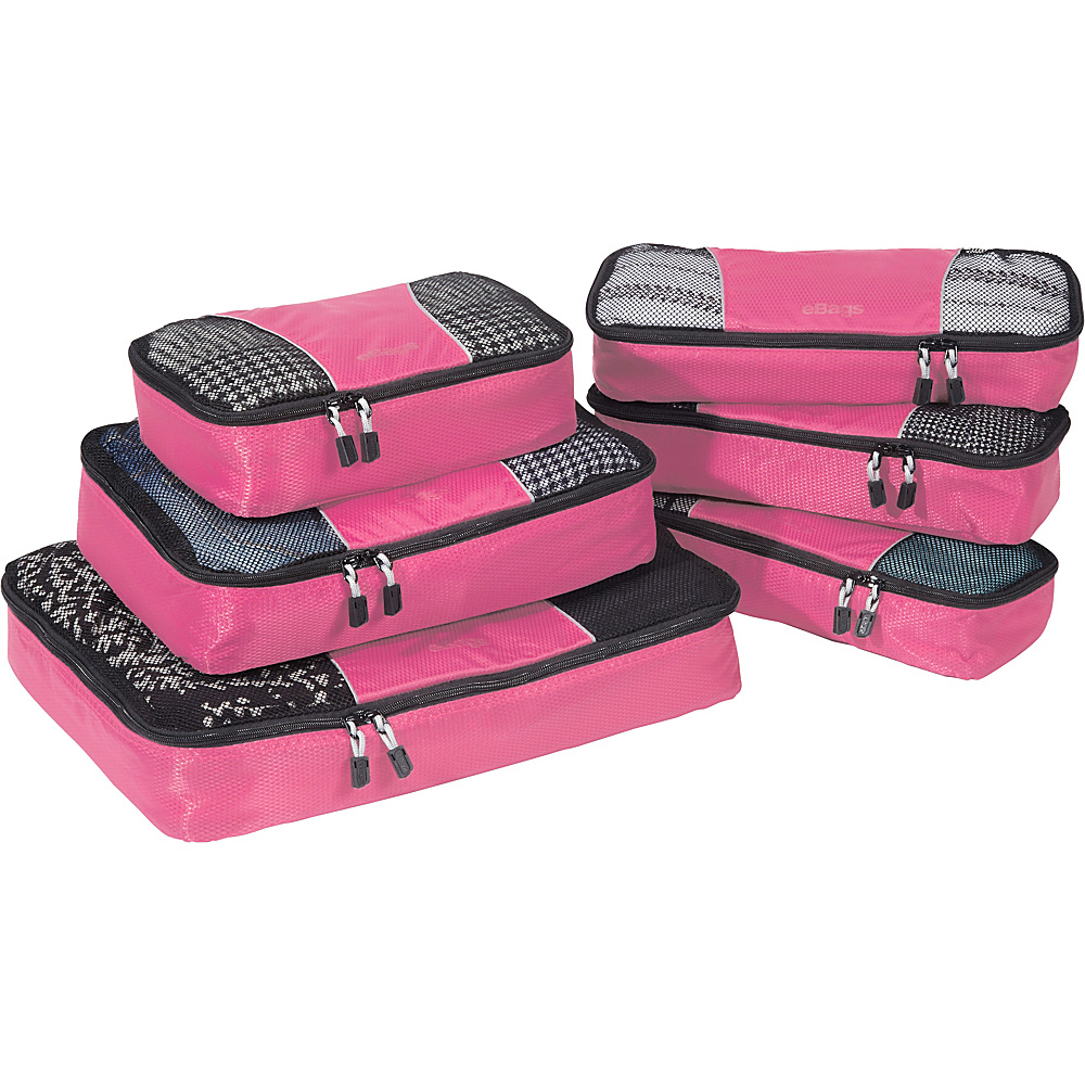 eBags Value Set: Packing Cubes + Slim Packing Cubes Peony - eBags Travel Organizers - Travel Accessories, Travel Organizers