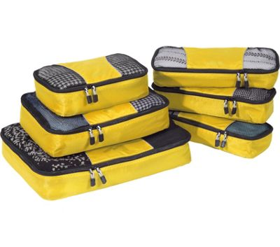 eBags Value Set: Packing Cubes + Slim Packing Cubes Canary - eBags Travel Organizers
