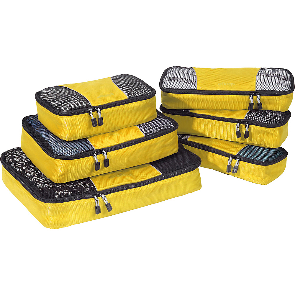 eBags Value Set: Packing Cubes + Slim Packing Cubes Canary - eBags Travel Organizers - Travel Accessories, Travel Organizers