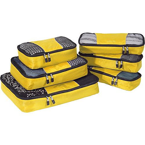 eBags Value Set: Packing Cubes + Slim Packing Cubes Canary - eBags Packing Aids