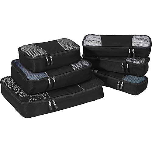 eBags Value Set: Packing Cubes + Slim Packing Cubes Black - eBags Packing Aids