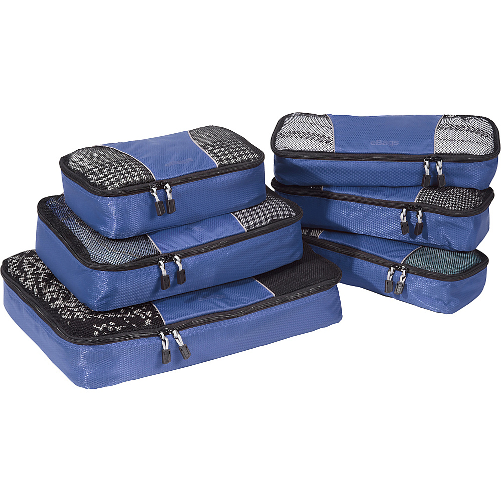 eBags Value Set: Packing Cubes + Slim Packing Cubes Denim - eBags Travel Organizers - Travel Accessories, Travel Organizers