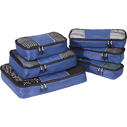 eBags Value Set: Packing Cubes + Slim Packing Cubes Denim - eBags Packing Aids