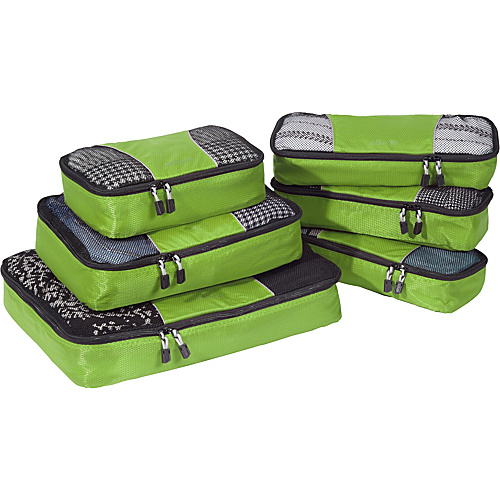 eBags Value Set: Packing Cubes + Slim Packing Cubes Grasshopper - eBags Packing Aids