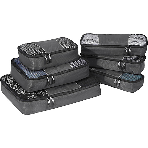 eBags Value Set: Packing Cubes + Slim Packing Cubes Titanium - eBags Packing Aids