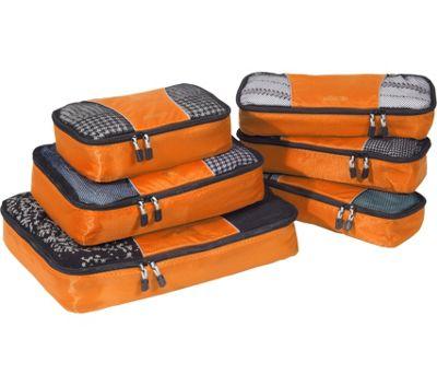 eBags Value Set: Packing Cubes + Slim Packing Cubes Tangerine - eBags Travel Organizers