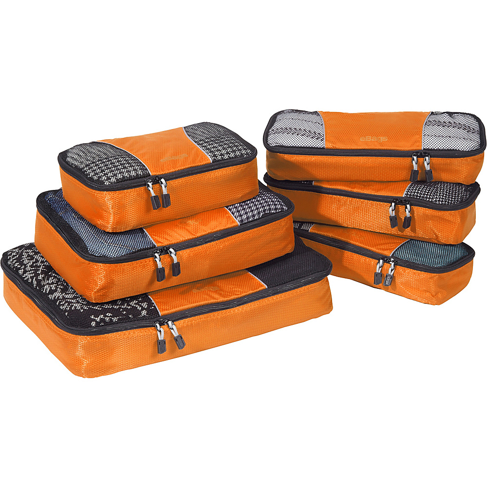 eBags Value Set: Packing Cubes + Slim Packing Cubes Tangerine - eBags Travel Organizers - Travel Accessories, Travel Organizers