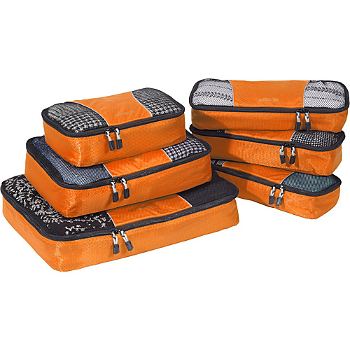 eBags Value Set: Packing Cubes + Slim Packing Cubes Tangerine - eBags Packing Aids