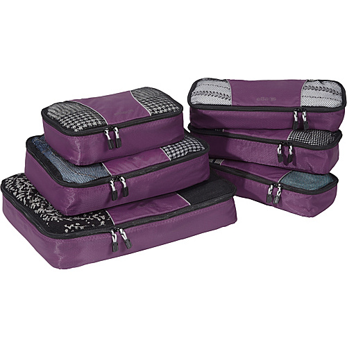 eBags Value Set: Packing Cubes + Slim Packing Cubes Eggplant - eBags Packing Aids