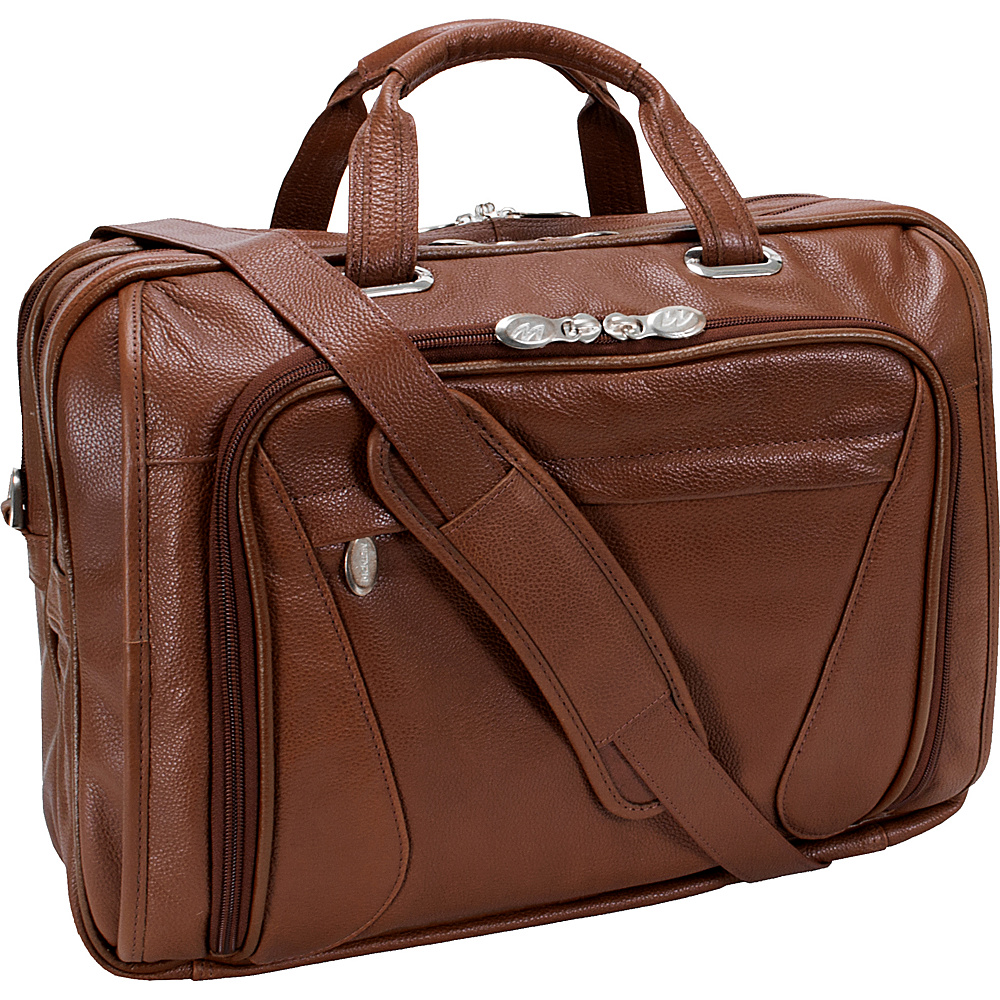 McKlein USA Irving Park 15.4 Laptop Case - Cognac - Work Bags & Briefcases, Non-Wheeled Business Cases