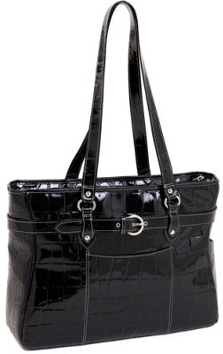 Siamod Monterosso Collection Serra Ladies 15.6 Laptop Tote Black - Siamod Women's Business Bags